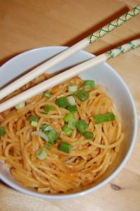 gluten-free peanut sesame noodles