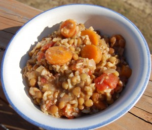 lentil & brown rice stew