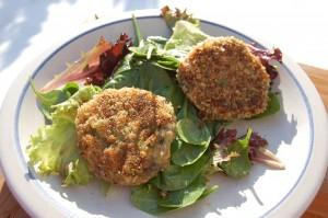 gluten/egg/dairy free potato leek croquettes