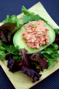 egg/dairy free salmon salad