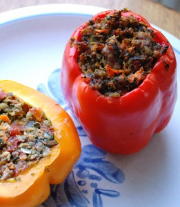 grain free stuffed peppers (Paleo)