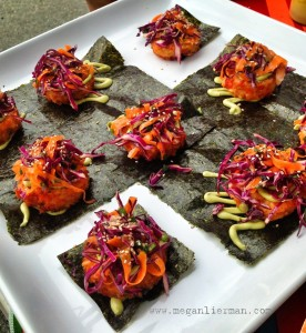 gluten free salmon shiitake risotto cakes