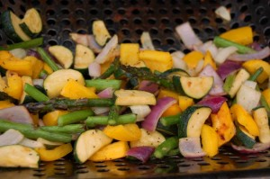 Grill roasted veggies